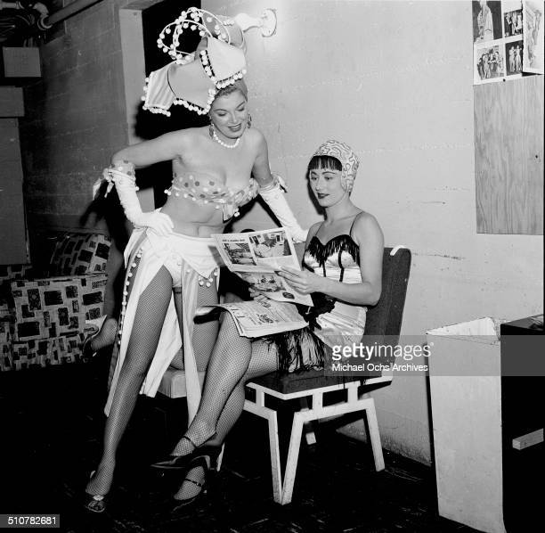 Barbara Nichols poses backstage in Los AngelesCA