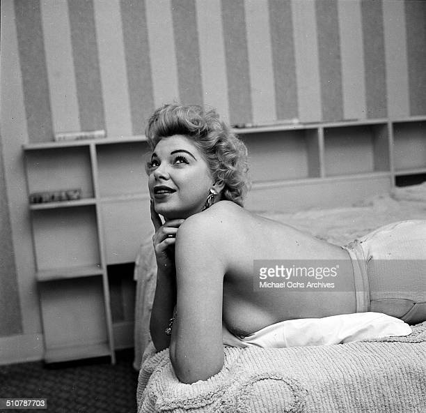 Barbara Nichols poses for a portrait at home in Los AngelesCA