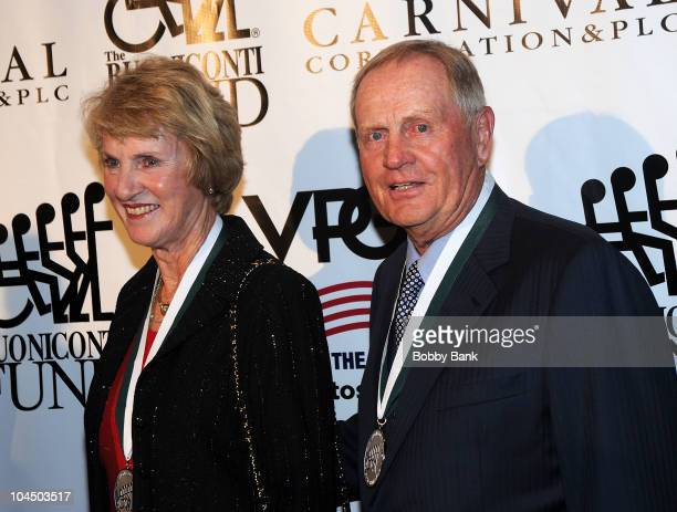 Barbara Nicklaus and Jack Nicklaus attend the 25th Annual Great Sports Legends Dinner at The Waldorf=Astoria on September 27 2010 in New York City