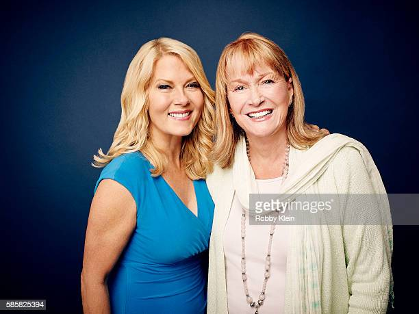 Barbara Niven and Diane Ladd are photographed at the Hallmark Channel Summer 2016 TCA's on July 27 2016 in Los Angeles California