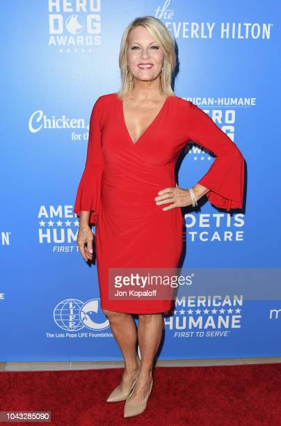 Barbara Niven attends American Humane's 2018 American Humane Hero Dog Awards at The Beverly Hilton Hotel on September 29 2018 in Beverly Hills...