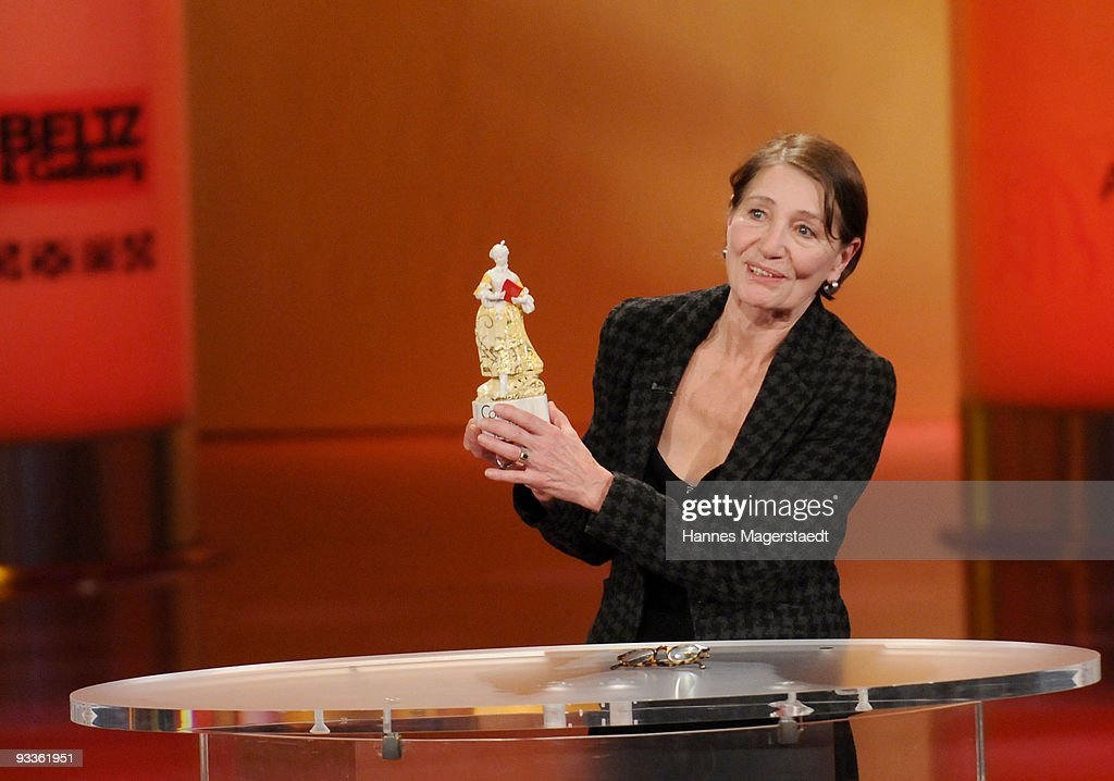 Barbara Nuesse addresses the audience during the annual Corine awards at the Prinzregenten Theatre on November 24, 2009 in Munich, Germany. The Corine Awards are considered one of the most prestigious German prizes for literature.