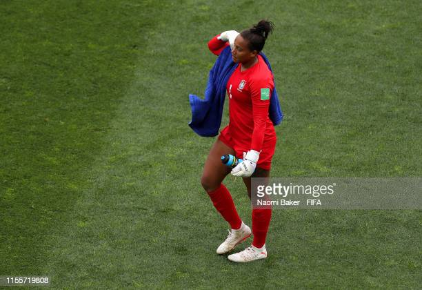 Barbara of Brazil looks dejected in defeat after the 2019 FIFA Women's World Cup France group C match between Australia and Brazil at Stade de la...