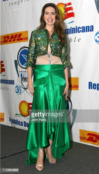 Barbara Palacios during 2005 Premios Fox Sports Press Room at Jackie Gleason Theater in Miami Beach Florida United States