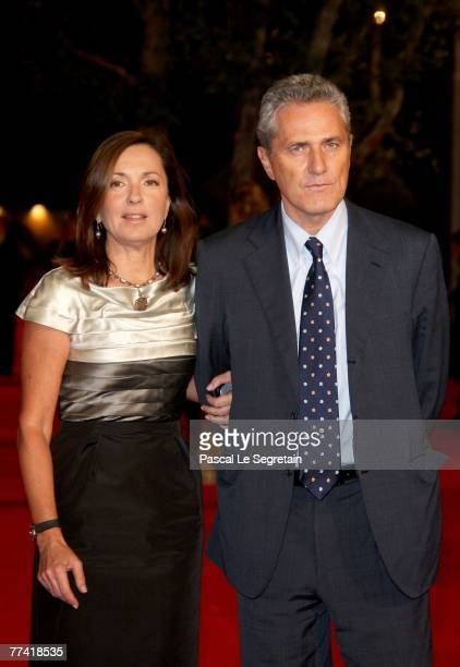 Barbara Palombelli and Francesco Rutelli attend 'Elizabeth The Golden Age' Premiere during day 2 of the 2nd Rome Film Festival on October 19 2007 in...