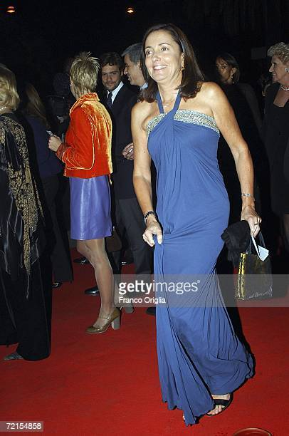ROME OCTOBER 12 Barbara Palombelli arrives at a Concert at the Teatro DellOpera on the opening night of the Rome Film festival on October 12 2006 in...