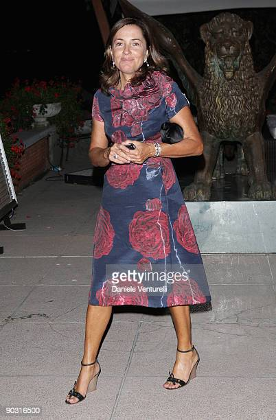 Barbara Palombelli attends the Opening Ceremony Dinner at the Sala Grande during the 66th Venice International Film Festival on September 2 2009 in...