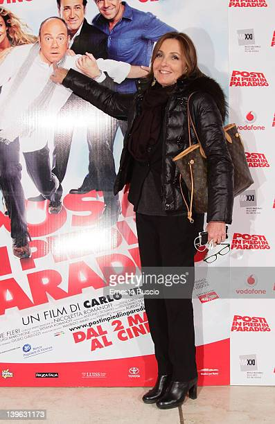 Barbara Palombelli attends the 'Posti In Piedi In Paradiso' premiere at Auditorium Parco Della Musica on February 23 2012 in Rome Italy