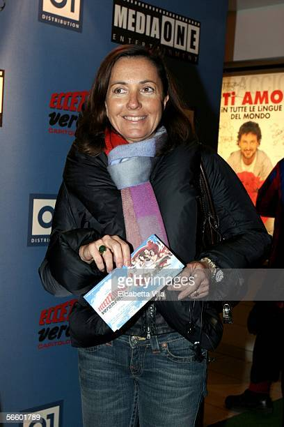 Barbara Palombelli Francesco Rutelli's wife arrives at the premiere for Carlo Vanzina's latest film Eccezzziunale Veramente Capitolo SecondoMe at...