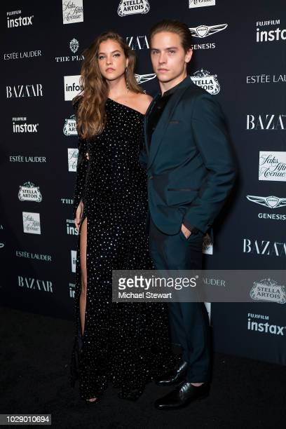 Barbara Palvin and Dylan Sprouse attend Harper's BAZAAR ICONS at The Plaza Hotel on September 7 2018 in New York City