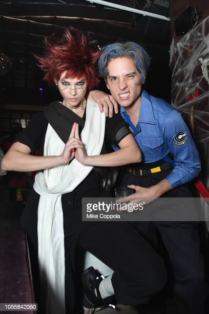 Barbara Palvin and Dylan Sprouse attend Heidi Klum's 19th Annual Halloween Party presented by Party City and SVEDKA Vodka at LAVO New York on October...