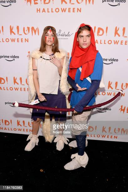 Barbara Palvin and Dylan Sprouse attend Heidi Klum's 20th Annual Halloween Party presented by Amazon Prime Video and SVEDKA Vodka at Cathédrale New...
