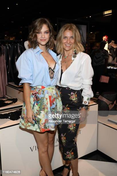 Barbara Palvin and stylist Michela Buratti attend Victoria's Secret Debut of the New Fall Collection on August 08 2019 in Miami Florida