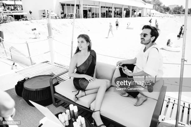 Barbara Palvin are photographed at the L'Oreal paris beach on May 24 2017 in Cannes France