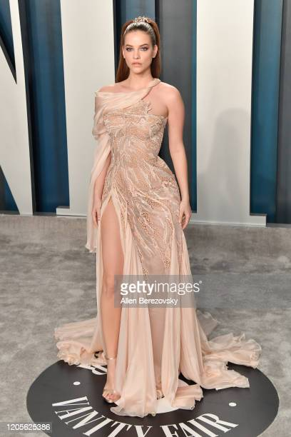 Barbara Palvin arrives at the 2020 Vanity Fair Oscar Party hosted by Radhika Jones at Wallis Annenberg Center for the Performing Arts on February 09...
