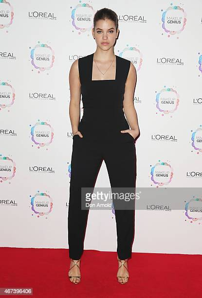Barbara Palvin arrives at the L'Oreal Paris Launch event at the Carriageworks on March 24 2015 in Sydney Australia