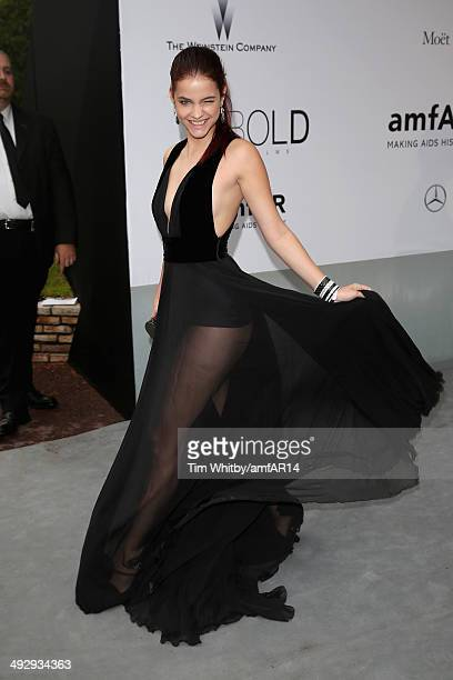 Barbara Palvin attends amfAR's 21st Cinema Against AIDS Gala Presented By WORLDVIEW BOLD FILMS And BVLGARI at Hotel du CapEdenRoc on May 22 2014 in...