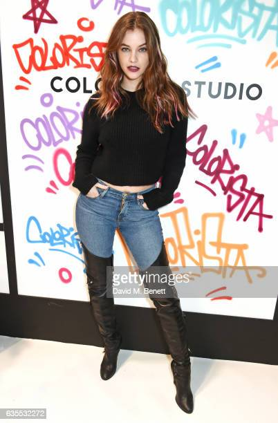 Barbara Palvin attends as X Factor 2016 winner Louisa Johnson is announced as the face of L'Oreal Paris' new hair colour brand 'Colorista' at Village...