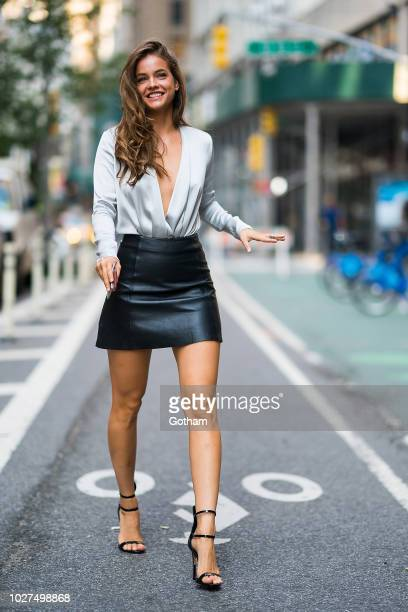 Barbara Palvin attends casting for the 2018 Victoria's Secret Fashion Show in Midtown on September 5 2018 in New York City