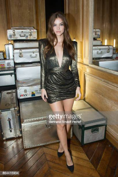 Barbara Palvin attends dinner hosted by Rimowa Alexandre Arnault to celebrate the 80th Anniversary of Rimowa's iconic aluminium suitcase at...