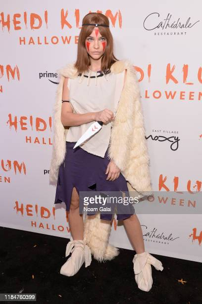 Barbara Palvin attends Heidi Klum's 20th Annual Halloween Party presented by Amazon Prime Video and SVEDKA Vodka at Cathédrale New York on October...