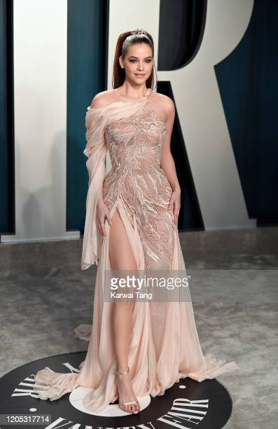 Barbara Palvin attends the 2020 Vanity Fair Oscar Party hosted by Radhika Jones at Wallis Annenberg Center for the Performing Arts on February 09...