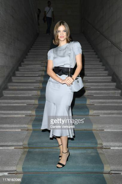 Barbara Palvin attends the Giorgio Armani fashion show during the Milan Fashion Week Spring/Summer 2020 on September 21 2019 in Milan Italy