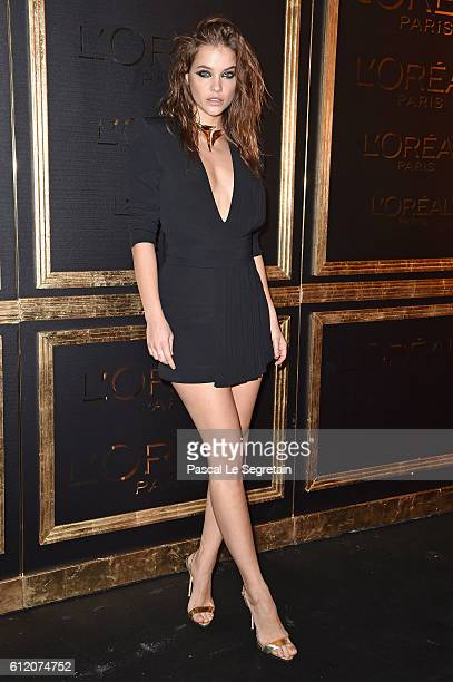 Barbara Palvin attends the Gold Obsession Party L'Oreal Paris Photocall as part of the Paris Fashion Week Womenswear Spring/Summer 2017 on October 2...