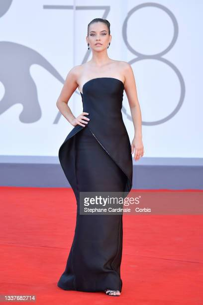 """Barbara Palvin attends the red carpet of the movie """"Madres Paralelas"""" during the 78th Venice International Film Festival on September 01, 2021 in..."""