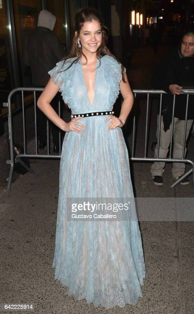 Barbara Palvin attends the Sports Illustrated Swimsuit 2017 Launch Event Outside Arrivals at Center415 Event Space on February 16 2017 in New York...