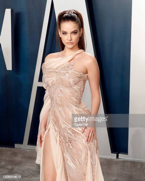Barbara Palvin attends the Vanity Fair Oscar Party at Wallis Annenberg Center for the Performing Arts on February 09 2020 in Beverly Hills California