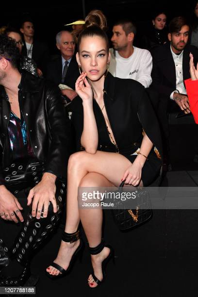 Barbara Palvin attends the Versace fashion show on February 21 2020 in Milan Italy