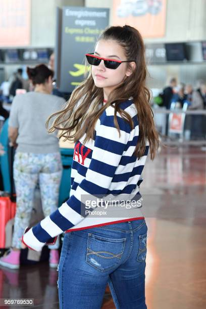 Barbara Palvin is seen arriving at Nice Airport during the 71st annual Cannes Film Festival at Nice Airport on May 18 2018 in Nice France