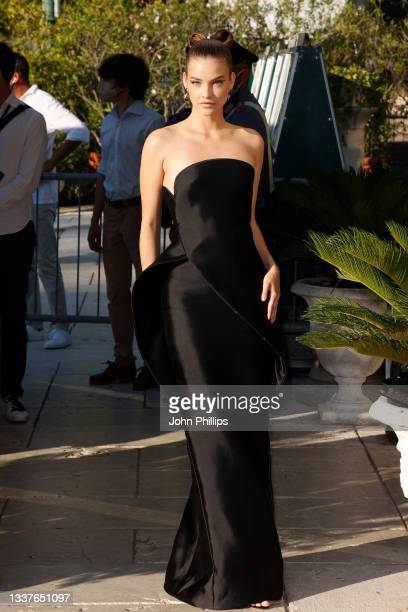 Barbara Palvin is seen arriving at the 78th Venice International Film Festival on September 01, 2021 in Venice, Italy.