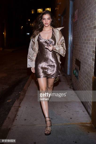 Barbara Palvin is seen in Tribeca on February 6 2018 in New York City
