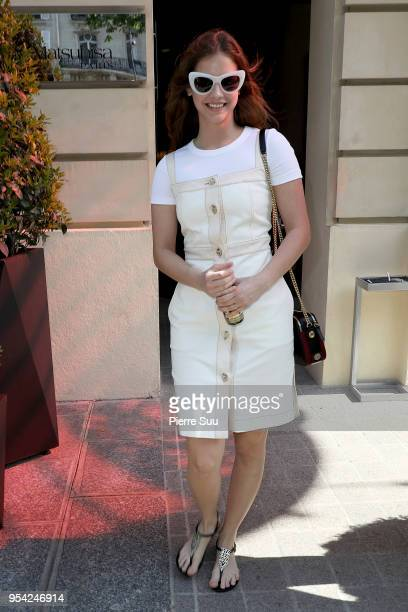 Barbara Palvin leaves her hotel on May 3 2018 in Paris France