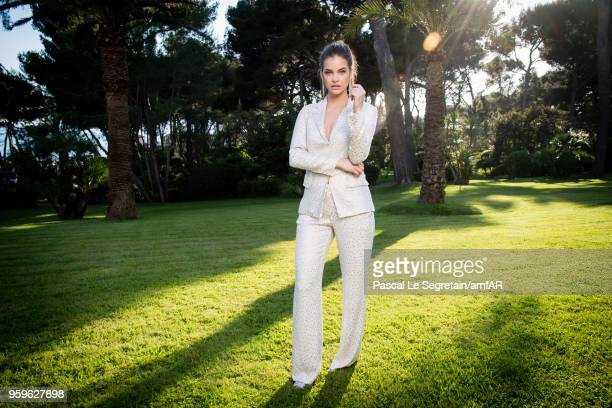 Barbara Palvin poses for portraits at the amfAR Gala Cannes 2018 cocktail at Hotel du CapEdenRoc on May 17 2018 in Cap d'Antibes France