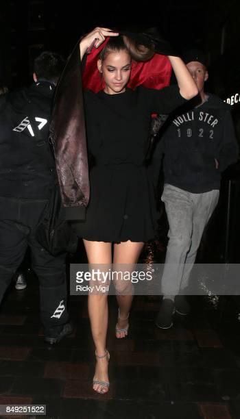 Barbara Palvin seen at Miu Miu X LOVE Magazine party at No 5 Hertford Street during London Fashion Week September 2017 on September 18 2017 in London...