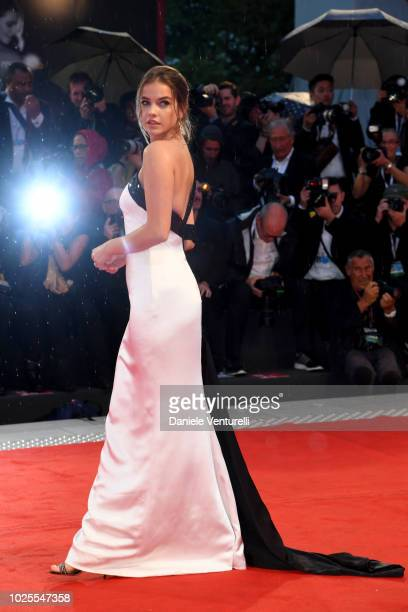 Barbara Palvin walks the red carpet ahead of the 'A Star Is Born' screening during the 75th Venice Film Festival at Sala Grande on August 31 2018 in...