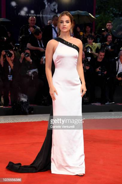 Barbara Palvin walks the red carpet ahead of the 'A Star Is Born' screening during the 75th Venice Film Festival at Sala Grande on August 31, 2018 in...