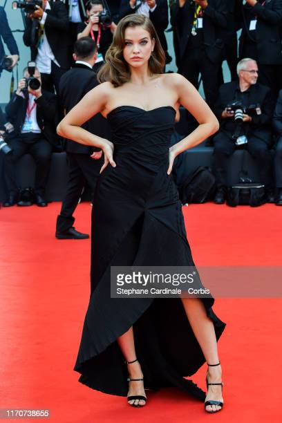 Barbara Palvin walks the red carpet ahead of the opening ceremony during the 76th Venice Film Festival at Sala Casino on August 28, 2019 in Venice,...