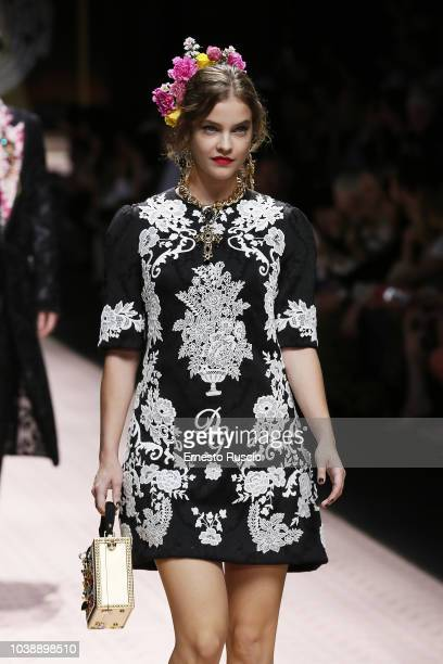 Barbara Palvin walks the runway at the Dolce Gabbana show during Milan Fashion Week Spring/Summer 2019 on September 23 2018 in Milan Italy
