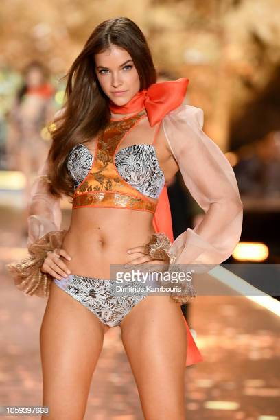 Barbara Palvin walks the runway during the 2018 Victoria's Secret Fashion Show at Pier 94 on November 8 2018 in New York City