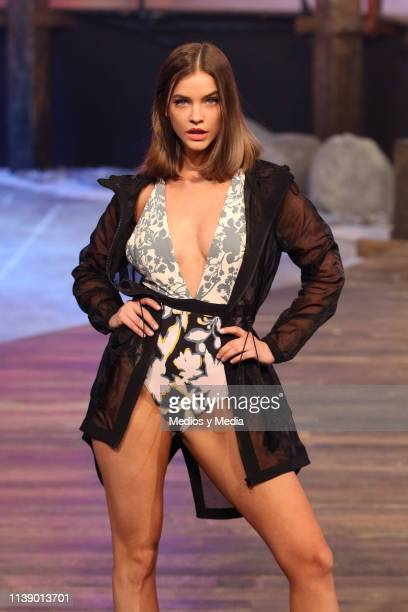Barbara Palvin walks the runway during the Liverpool Fashion Fest Spring/Summer 2019 at Quarry Studios on March 28 2019 in Mexico City Mexico