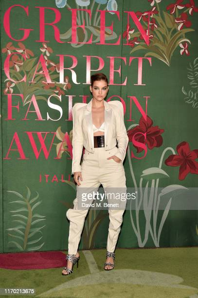 Barbara Palvin wearing Diesel attends The Green Carpet Fashion Awards, Italia 2019, hosted by CNMI & Eco-Age, at Teatro Alla Scala on September 22,...