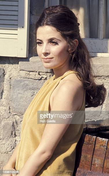 "Barbara Parkins sighted on location filming ""Peyton Place"" on April 1, 1968 at 20th Century Fox Studios in Century City, California."