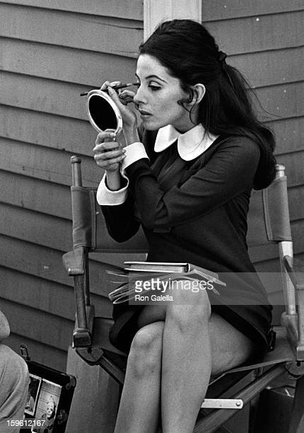 Barbara Parkins sighted on location filming Peyton Place on April 1 1968 at 20th Century Fox Studios in Century City California