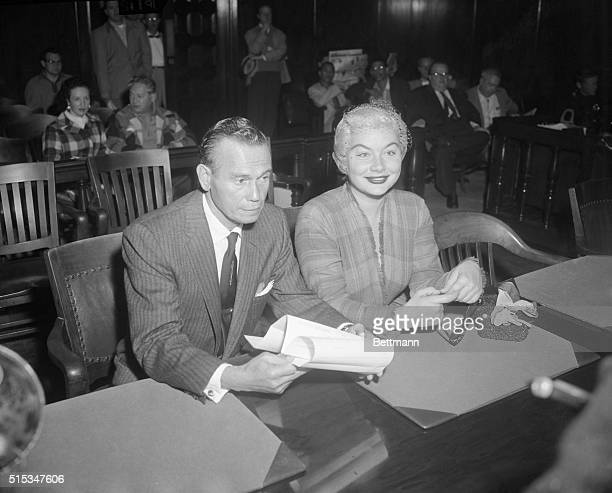 Barbara Payton 28yearold and exwife of actor Franchot Tone was arraigned in court 10/17 on a charge of issuing bad checks The now rather plump...