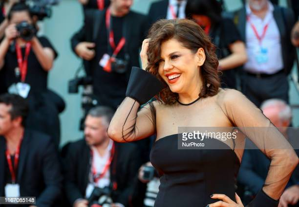 Barbara Paz walks the red carpet ahead of the closing ceremony of the 76th Venice Film Festival at Sala Grande on September 07 2019 in Venice Italy