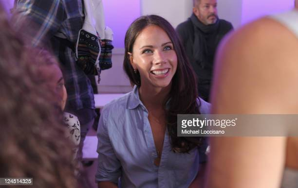 Barbara Pierce Bush attends the Prabal Gurung Spring 2012 fashion show during Mercedes-Benz Fashion Week at the IAC Building on September 10, 2011 in...